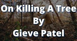 On Killing A Tree Poem Bengali Meaning