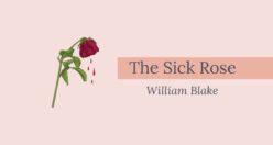 The Sick Rose Poem Bengali Translation